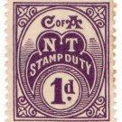 (I.B) Australia - Northern Territory : Stamp Duty 1d