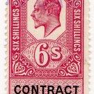 (I.B) Edward VII Revenue : Contract Note 6/-