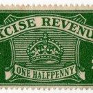(I.B) Excise Revenue : ½d Green (1934)