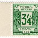 (I.B) Southern Rhodesia Revenue : Personal Tax 3/4d