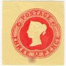 (I.B) QV Postal : Embossed Die 3d (1882)