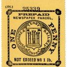 (I.B) Pembroke & Tenby Railway : Newspaper 1d (print error)