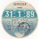 (I.B) GB Revenue : Car Tax Disc (Leyland Goods 1989)
