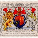 (I.B) Canada Cinderella : Royal Visit 1939 (Royal Coat of Arms)
