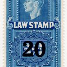 (I.B) Canada Revenue : Law Stamp 20c on 10c OP