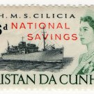 (I.B) Tristan da Cunha Revenue : Savings Stamp 6d