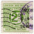 (I.B) London & South Western Railway : Letter 2d (postal)