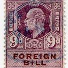 (I.B) Edward VII Revenue : Foreign Bill 9d