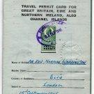 (I.B) George V Revenue : Travel Permit Card 5/- (complete document)
