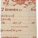 (I.B) George III Revenue : Horse Duty