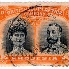 (I.B) Rhodesia/BSAC Postal : Double Head 4d