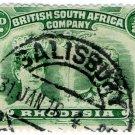 (I.B) Rhodesia/BSAC Postal : Double Head ½d