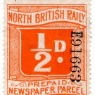 (I.B) North British Railway : Newspaper Parcel ½d