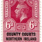 (I.B) George V Revenue : County Courts (Northern Ireland) 6d