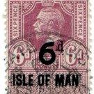 (I.B) George V Revenue : Isle of Man 6d