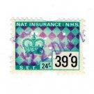 (I.B) Elizabeth II Revenue : National Insurance 39/9d