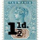 (I.B) Australia Postal : Tasmania 1½d on 5d OP