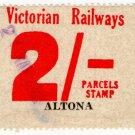 (I.B) Australia - Victoria Railways : Parcels 2/- (Altona)