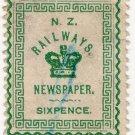 (I.B) New Zealand Railways : Newspaper Stamp 6d