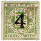 (I.B) Great Central Railway : Letter Stamp 4d on 3d OP