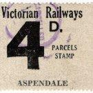 (I.B) Australia - Victoria Railways : Parcels 4d (Aspendale)