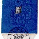 (I.B) QV Revenue : Ireland Impressed Duty 2/6d (Dublin 1862)