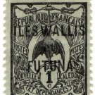(I.B) France Colonial Postal : Wallis & Futuna Overprint 1c (New Caledonia)