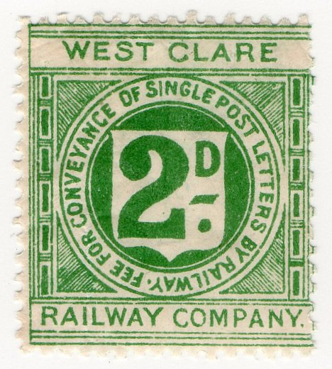 (I.B) West Clare Railway : Letter Stamp 2d