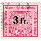 (I.B) Switzerland Railways : State Railways 3Fr