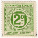 (I.B) Northampton & Banbury Junction Railway : Letter Stamp 2d
