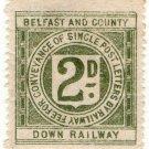 (I.B) Belfast & County Down Railway : Letter Stamp 2d