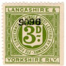 (I.B) Lancashire & Yorkshire Railway : Letter Stamp 3d