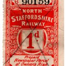 (I.B) North Staffordshire Railway : Newspaper Parcel 1d
