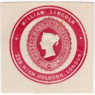 (I.B) QV Postal : Newspaper Wrapper - William Lincoln 2½d (Advertising Ring)