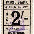(I.B) Glasgow & South Western Railway : Parcel 2/- (Dumfries)