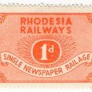 (I.B) Rhodesia Railways : Newspaper Railage 1d