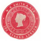 (I.B) QV Postal : Newspaper Wrapper - WH Smith & Son 3d (Advertising Ring)