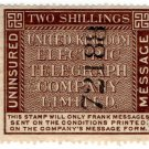 (I.B) United Kingdom Electric Telegraph Co : Message 2/-