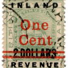 (I.B) British Guiana Revenue : Inland Revenue 1c on $2 OP