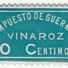 (I.B) Spain Cinderella : Civil War Charity Stamp 10c (Vinaroz)