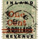 (I.B) British Guiana Revenue : Inland Revenue 1c on $3 OP