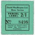 (I.B) Cinderella Collection : David MacBrayne Motor Services - Parcel 2/1d