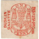 (I.B) George IV Revenue : Newspaper Duty 1d (Dublin Gazette)