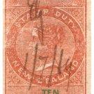 (I.B) New Zealand Revenue : Stamp Duty 10/- (reversed & inverted watermark)