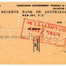 (I.B) Australia - Tasmania Revenue : Stamp Duty 1/5d (cheque duty)