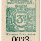 (I.B) Shropshire & Montgomeryshire Railway : Letter Stamp 3d