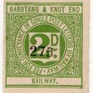 (I.B) Garstang & Knot End Railway : Letter Stamp 2d