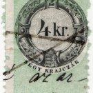 (I.B) Austria/Hungary Revenue : Stempelmarke 4Kr