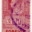 (I.B) George VI Revenue : Foreign Bill £1 10/-