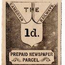 (I.B) Cambrian Railways : Newspaper Parcel 1d